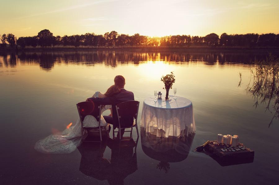 Plener ślubny nad wodą i w teatrze – Jola i Arek