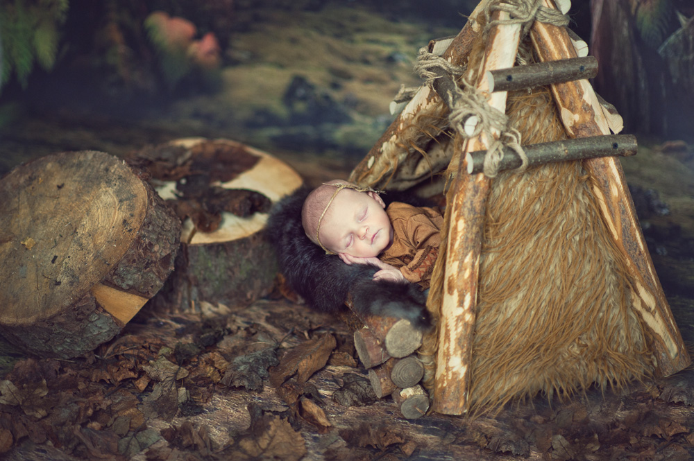 Sesja noworodkowa 13-to dniowej Helenki