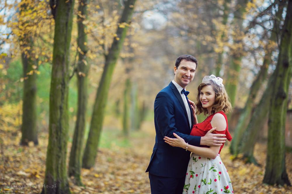 Jesienna sesja ślubna – Weronika i Jakub