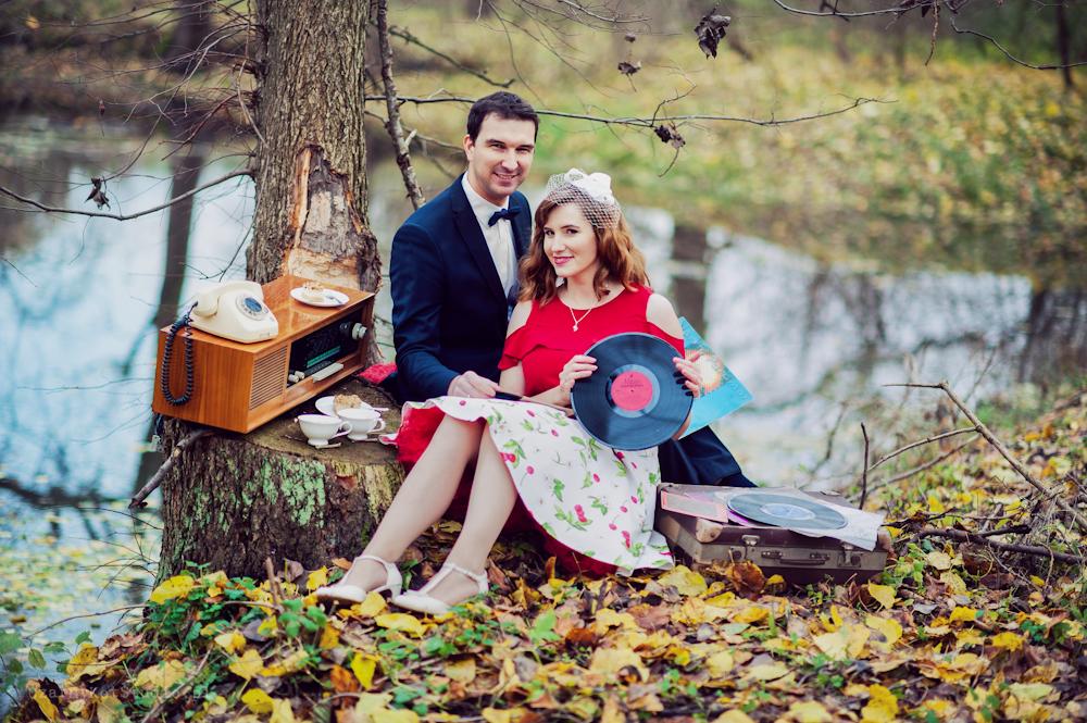 zwariowana sesja ślubna z płytami, dobre nastawienie i miła atmosfera towarzyszyła nam przez całą sesję
