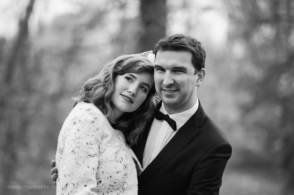 portret ślubny w plenerze