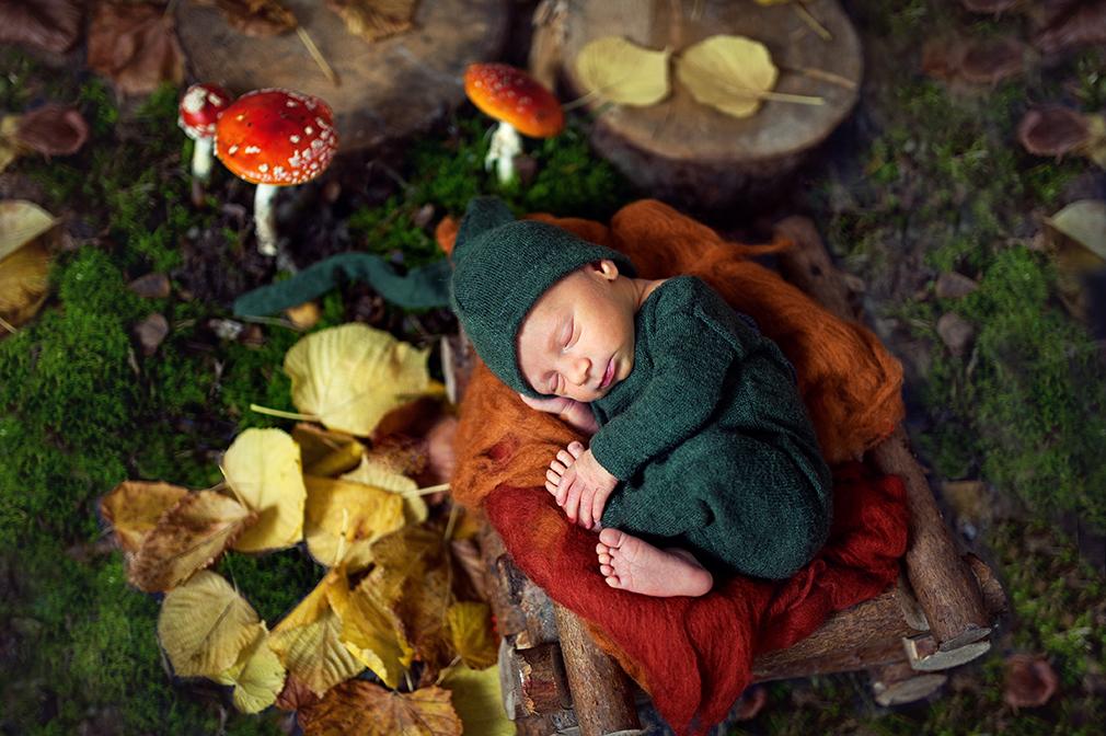 Jesienna sesja noworodkowa Malwinki