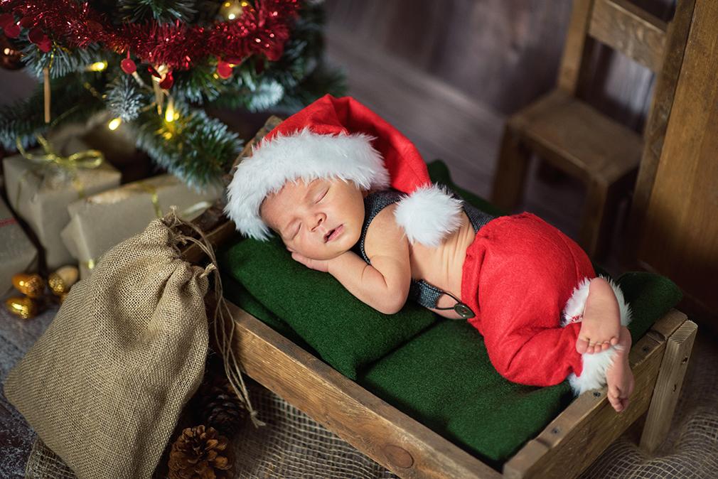 świąteczna sesja dziecięca, fotograf konin, urocze zdjęcia noworodków