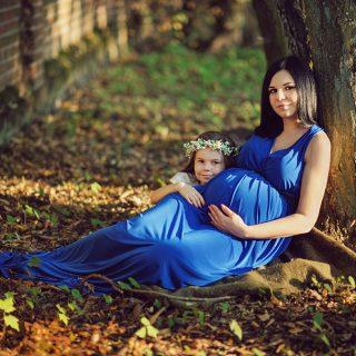 rodzinna sesja ciążowa, sesja ze starszym rodzeństwem