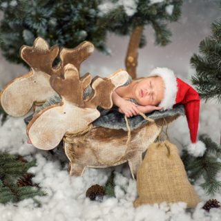 świąteczna sesja noworodkowa, fotografia noworodkowa, fotograf konin