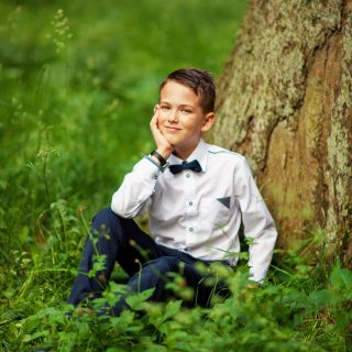 portret chłopca, sesja komunijna