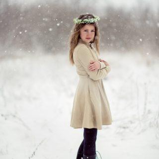zimowa sesja dziecięca, plener dziecięcy