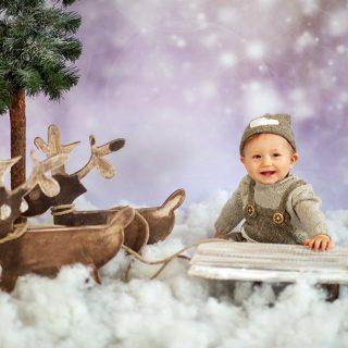 zimowa sesja dziecięca, sesje świąteczne, prezent dla dziecka