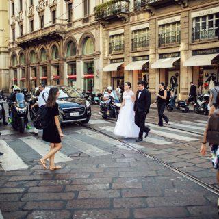 plener ślubny na ulicach mediolanu, fotograf ślubny konin, poznań, sesja zagraniczna