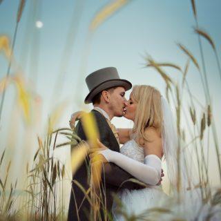 złota godzina na plener ślubny, fotograf do zdjęć ślubnych