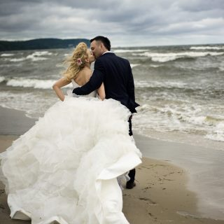 plener ślubny nad morzem, sesja ślubna konin, gdanisk
