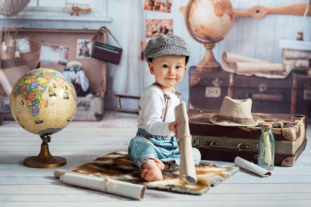 dziecko w podróży, sesja dziecka, zdjęcia dzieci konin