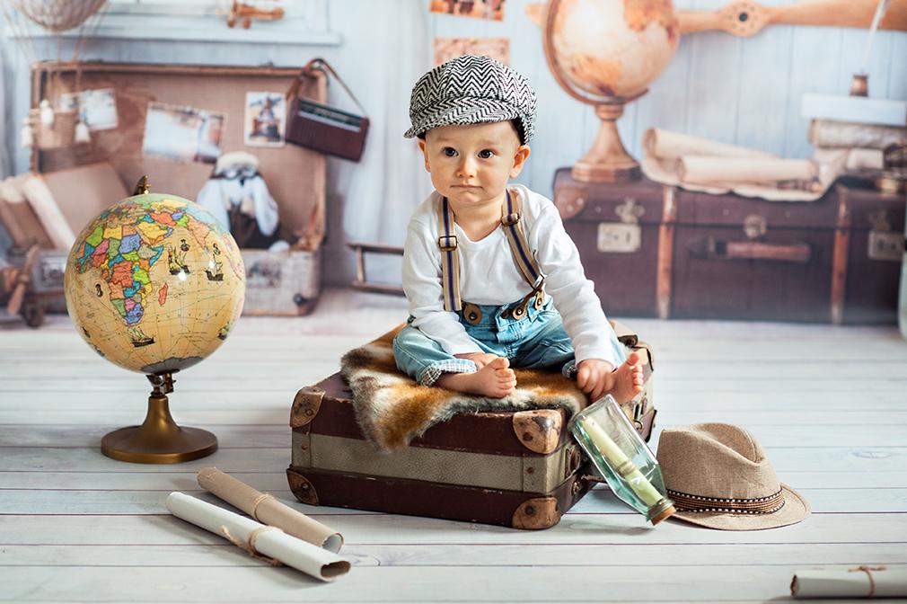 przygotowanie dziecka do podróży, fotografia dziecięca, studio fotograficzne konin,