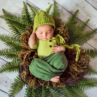 jesienna sesja zdjęciowa noworodka